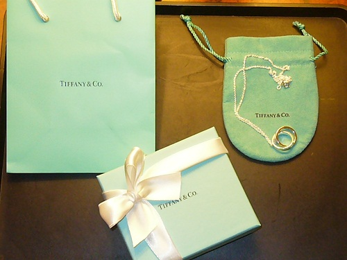 Tiffany's blue box necklace rings