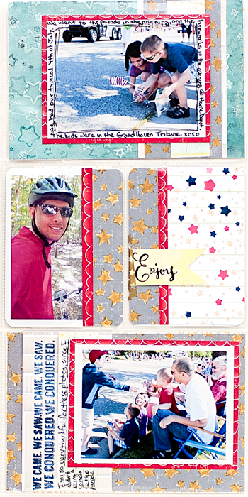 Heather Greenwood | Project Life 2014 - Week 27 insert | 4th of July | On Cherry Street Magical kit and Sweet Stamp Shop coordinating stamp sets