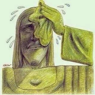 Nem o Cristo tá suportando a nova fornalha de São Pedro