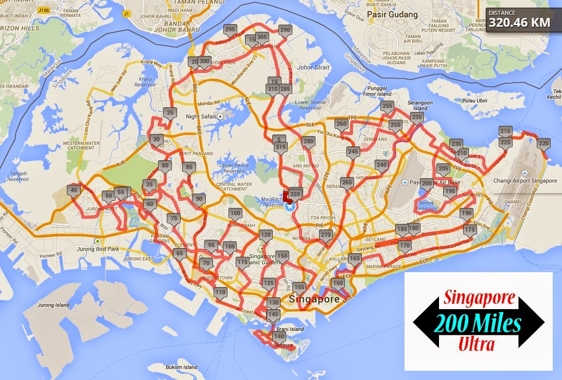 Singapore 200 Miles Ultra MapRoute