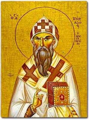 ST. CYRIL. Cyrillus, Patriarch of Alexandria