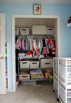 Tranquility Spot Nursery Closet Reconfiguration