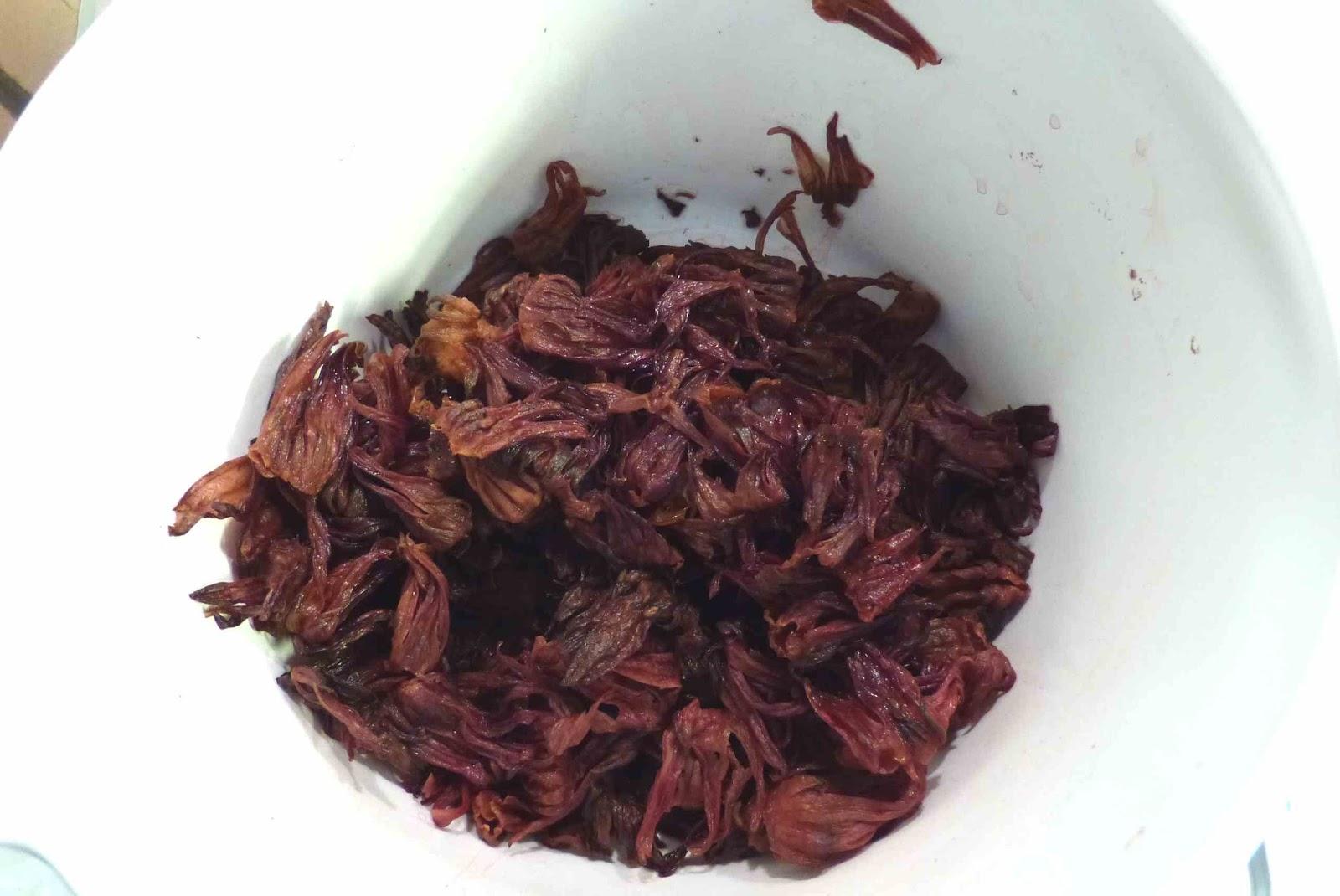 Flor de jamaica hervida