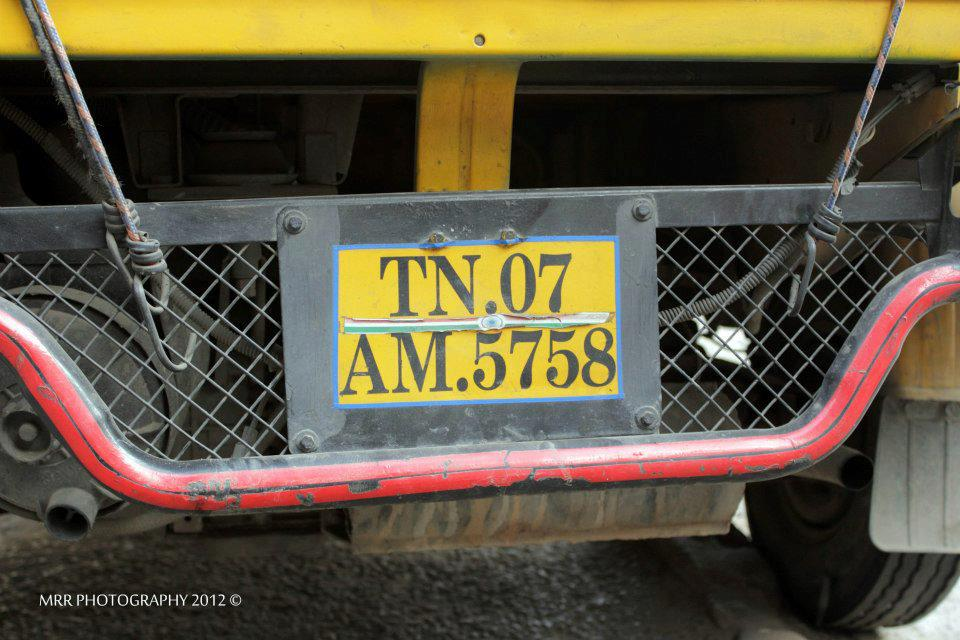 Anna Durai's Auto Registration Number , Photo Courtesy : MRR Photography