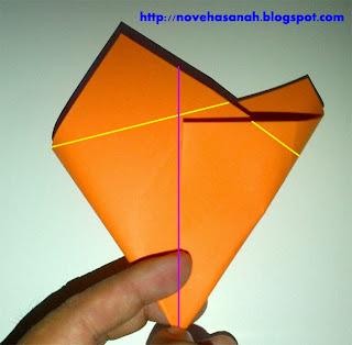 cara menggunting dan melipat kertas bentuk bintang
