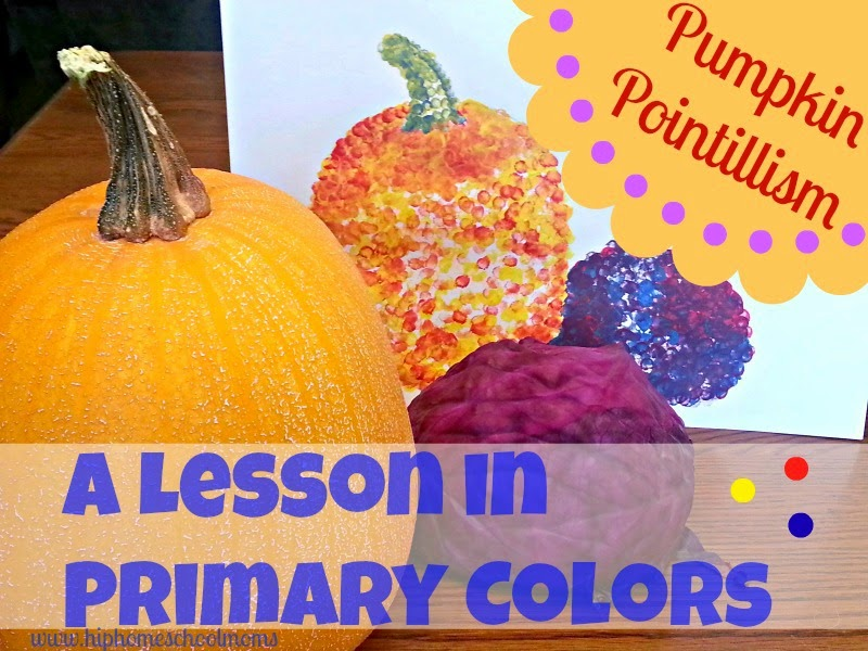 http://www.hiphomeschoolmoms.com/2013/10/pumpkin-pointillism-an-art-lesson-in-primary-colors/