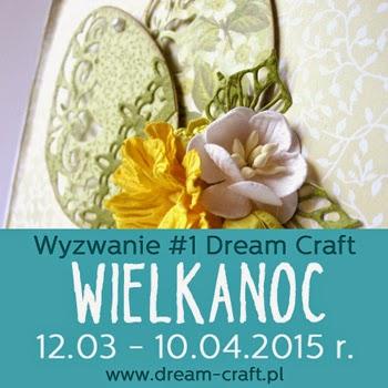 zgłaszam na wyzwania:  w scrapek.pl  w pracy znajdują się kwiaty, tekturka i kurka  http://scrapek.blogspot.com/2015/03/wiosenne-wyzwanie-nr-34.html  w Dream Craft