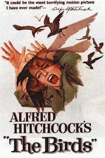 Cartel Los Pájaros de Alfred Hitchcock