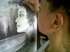 Dibujando con carboncillo