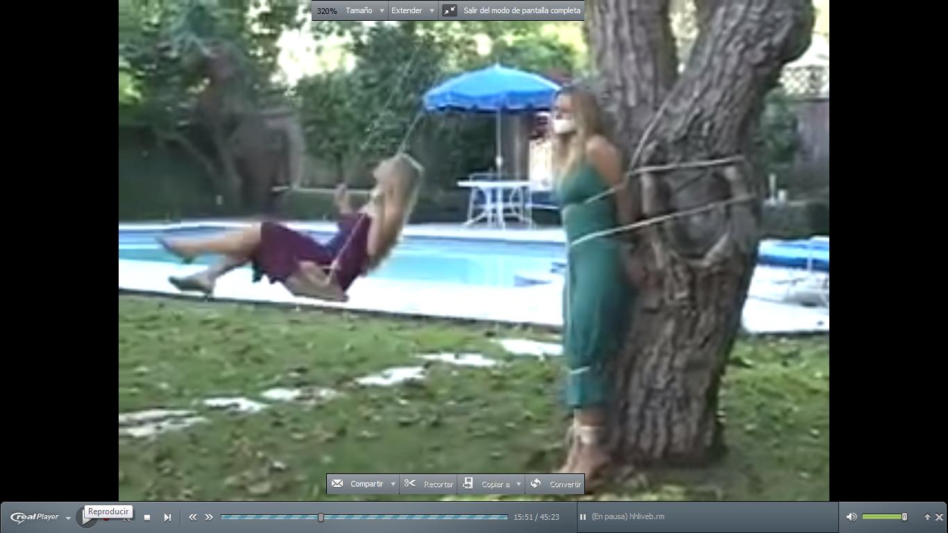 Chica adolescente atado y videos cosquilleados