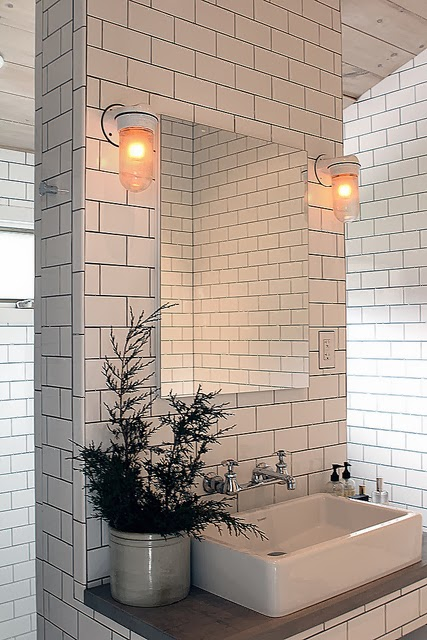 To da loos white subway tiles with dark grout do we like it - White subway tile with black grout bathroom ...