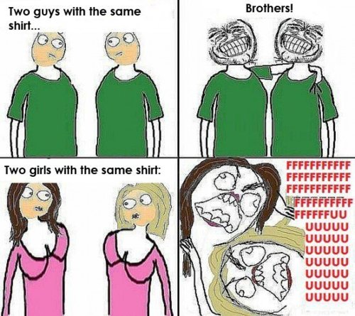 When People Wear The Same Shirt - Guys vs Girls