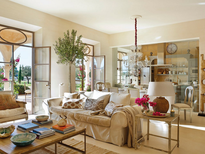 Mix and chic gorgeous sun filled rooms for Salon maison de campagne