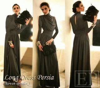 Jual Long Dress Persia Tangan Panjang Murah