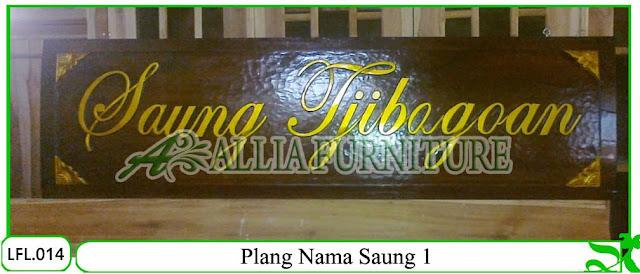 Plang Ukir Nama Saung Klender 1