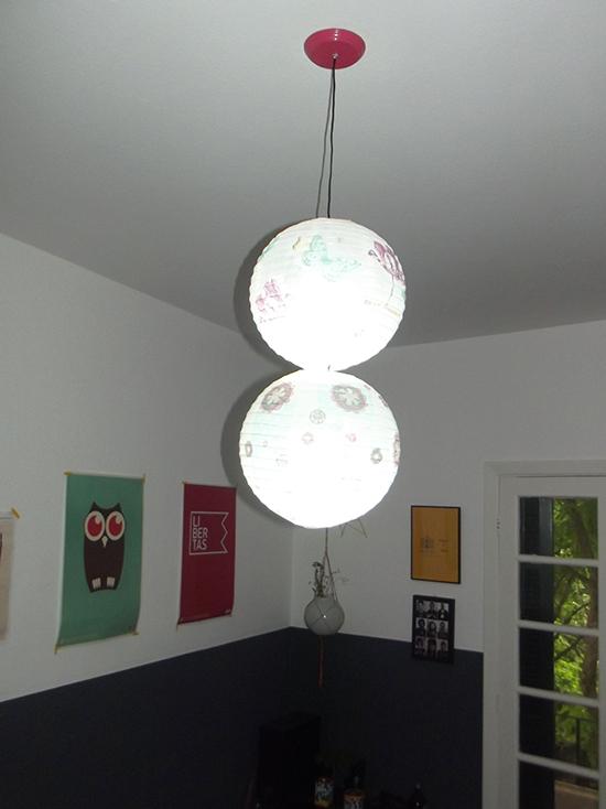 luminária pendente, luminaria japonesa, pendant light, faça você mesmo, diy, lustre sala, lustre