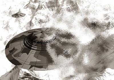 Nazi UFO over Antarctica