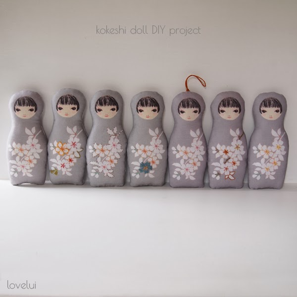 kokeshi doll sewing project