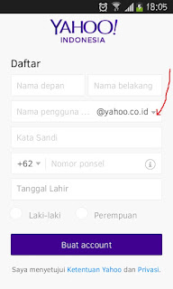 Buat Email Yahoo Melalui Hp Android