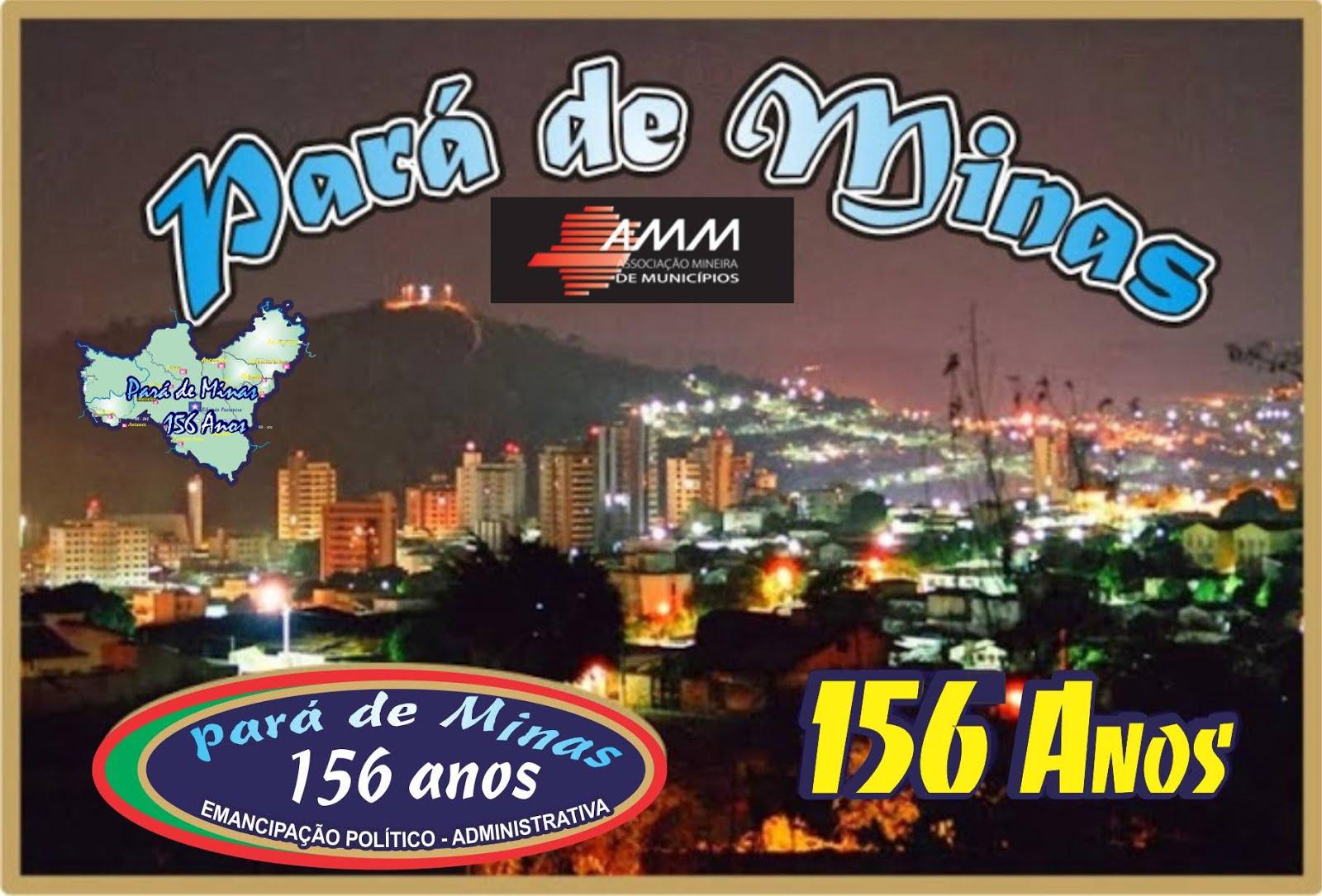 Pará de Minas 156 Anos de História