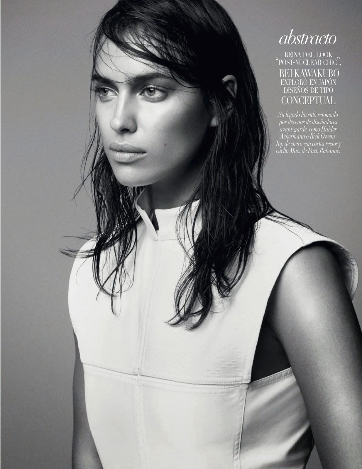Irina Shayk Vogue Arabia Magazine Photoshoot Janeiro 2014