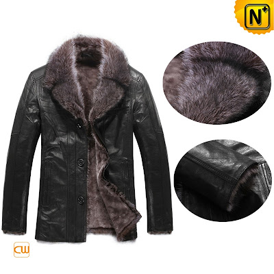 Men Goatskin Fur Jacket