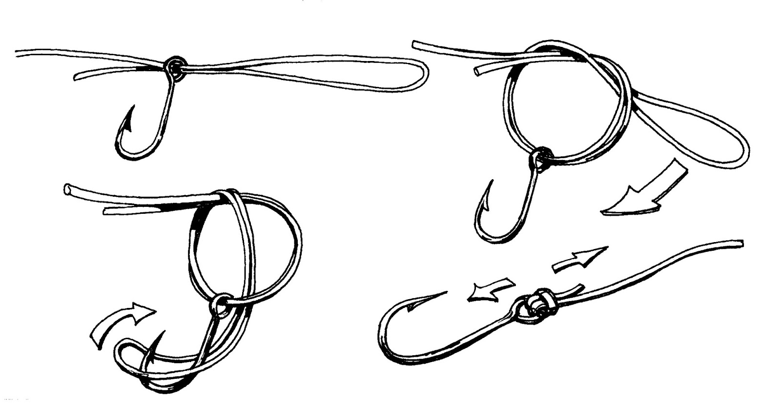 Fishing knots for hooks - photo#7