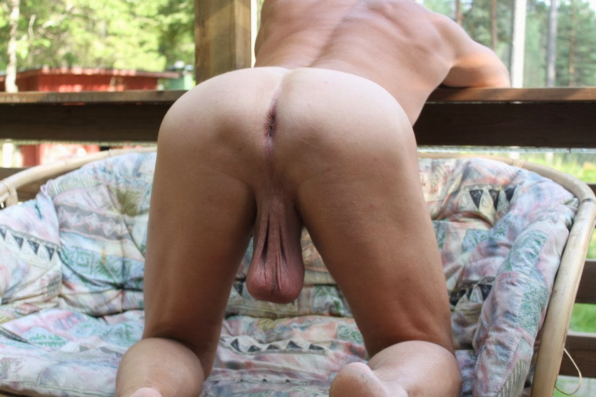 smooth shaved scrotum