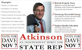 Front of political magnet mailer