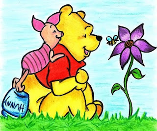 Gambar Wallpaper Winnie The Pooh dan Piglet Lucu
