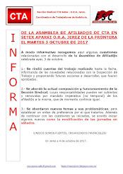 DE LA ASAMBLEA DE AFILIAD@S DE CTA EN SETEX APARKI O.R.A. JEREZ DE LA FRONTERA EL MARTES 3 OCTUBRE