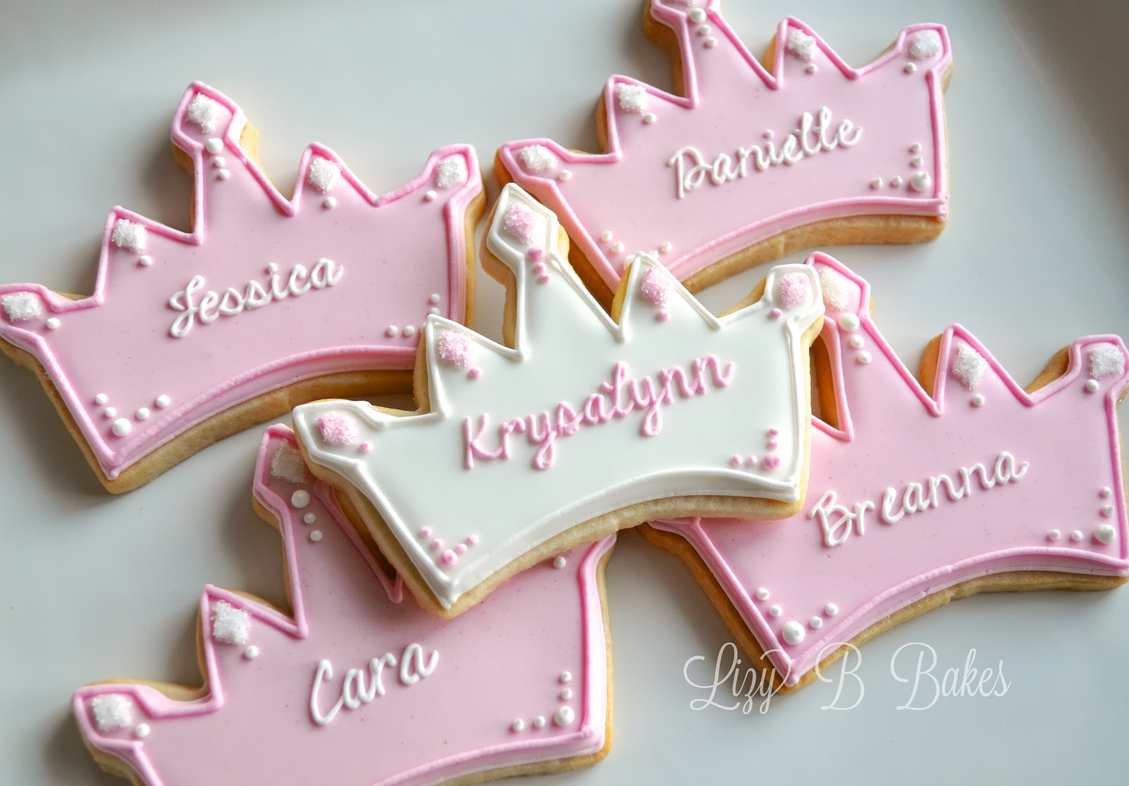 Bridal Shower Crown And Glass Slipper Cookies