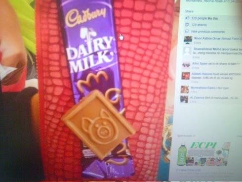 Coklat Cadbury Ada Gambar Khinzir