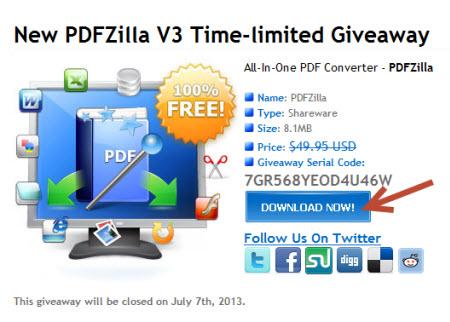 Free New PDFZilla V3 giveaway