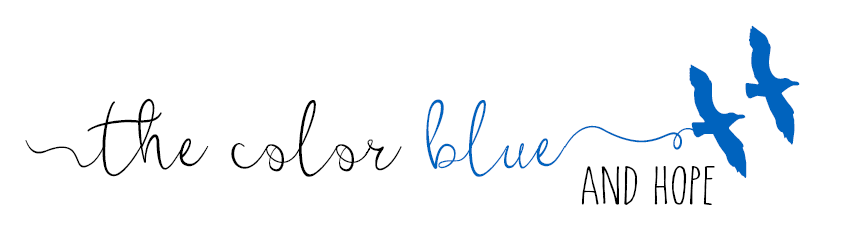 the color blue and hope