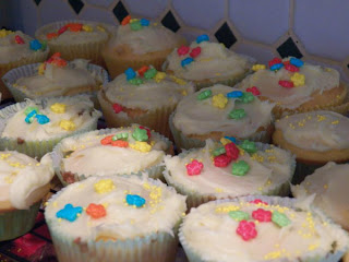 Bluebell Woods shared her grandson, Tristen, making cupcakes. It was so much