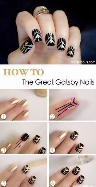 Nails Art Step By Step Tutorial #9..