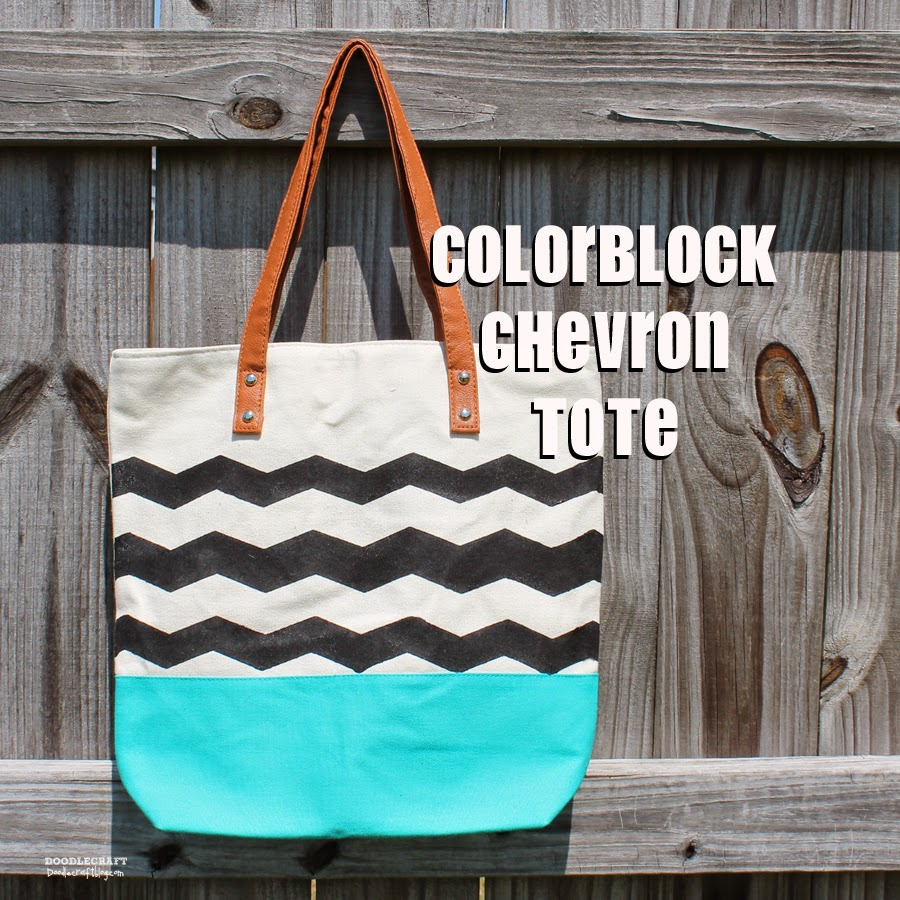 http://www.doodlecraftblog.com/2014/05/colorblock-chevron-tote-with-frogtape.html