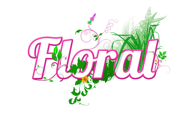 Smooth Floral Typography Wallpaper