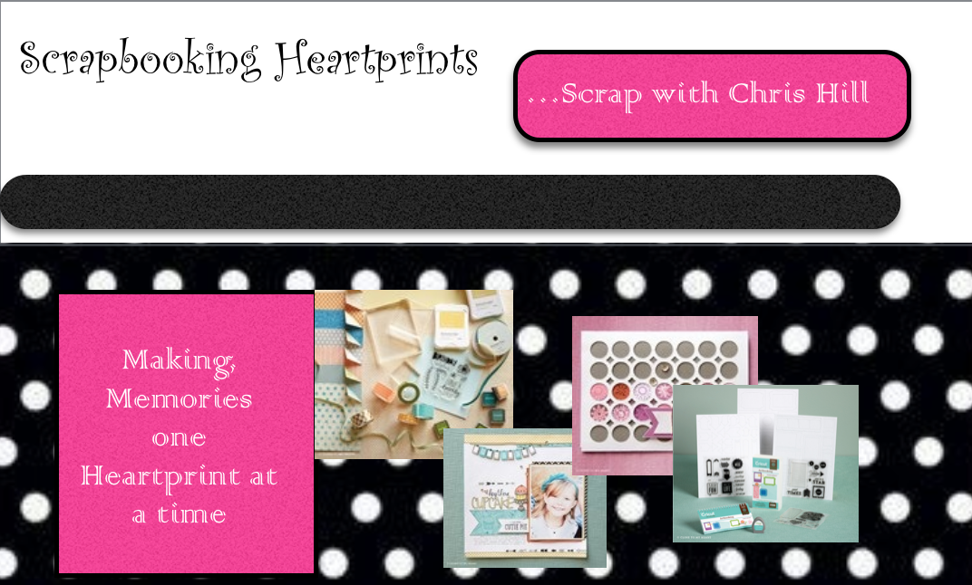 Scrapbooking Heartprints....scrap with Chris Hill