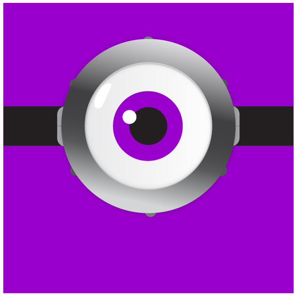 minion eye template