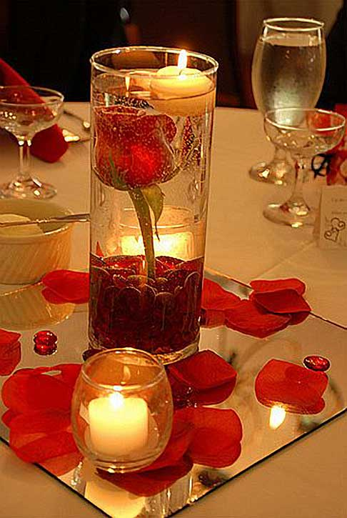 Centerpieces ideas romantic decoration