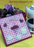 caixa de chá em MDF