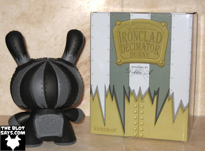 Toy Review: Kidrobot Ironclad Decimator 8 Inch Dunny Chase & Packaging (Back) by Doktor A