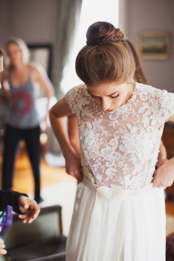 vestidos de dos piezas para las novias de esta temporada - quiero