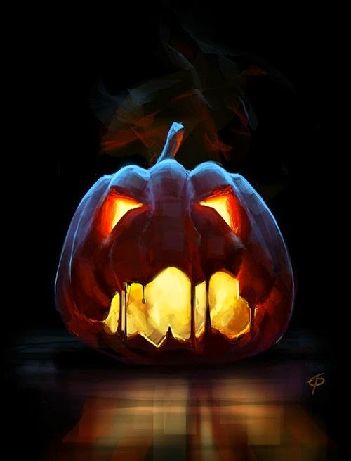 Scary Zombie Face Pumpkin