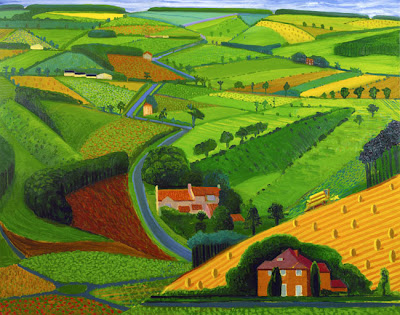 David Hockney - The Road Across the Wolds (1997).