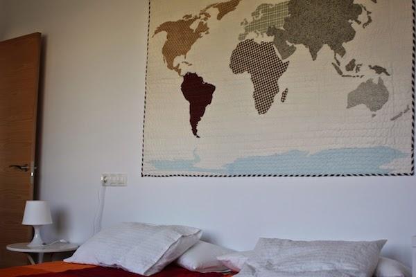mapa de patchwork para colgar