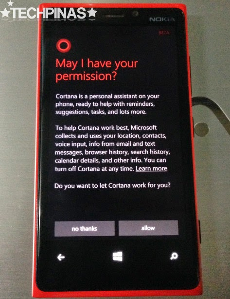 Cortana, Cortana Windows Phone 8.1