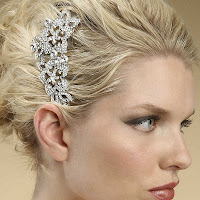 Vintage Inspired Crystal Petal Hair Comb